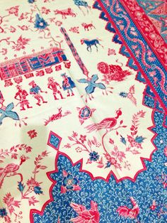 Hand-drawn reproduction of Dutch influence Batik by Batik Shunniya with motive Opera Istanbul. Private collection of Arief Laksono.