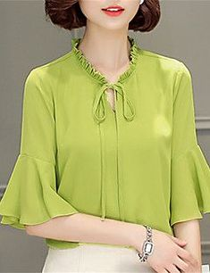 70 Elegant Job Work Outfit Ideas to Look Attractive - Indian Blouse Designs, Beautiful Blouses, Blouse Patterns, Blouse Styles, Blouses For Women, Ideias Fashion, Fashion Dresses, Womens Fashion, How To Wear