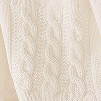 copertina in pura lana da lettino con trecce