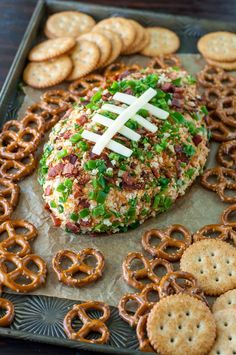 Jalapeño Popper Football Cheese Ball