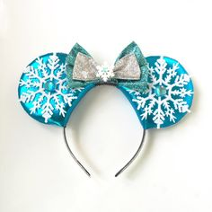 A personal favorite from my Etsy shop https://www.etsy.com/listing/253762839/frozen-elsa-mickey-ears-frozen-disney