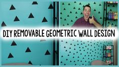 DIY Removable Geometric Wall Design an removable & easy way to change the look of a wall!