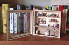 Escena en miniatura, decoración para la casa,caja con mini escena,miniaturas para casas de muñecas.  Envió sin coste.