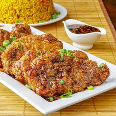 Double Crunch Honey Garlic Pork Chops. Juicy on the inside but super crunchy on the outside, these double dipped pork chops get dipped in an easy, flavourful Honey Garlic Sauce.
