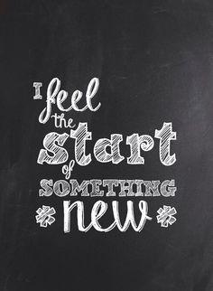The start of something new! ❥