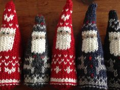 Scandanavian santa pattern from ravelry!  Use your creativity to make each one unique!