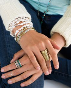 #Silpada Mixed Metal and Pearl: Arm Party Galore!