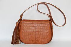 I love this cognac crocodile Bowden bag. It's simple, but it makes a statement.