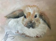 "Daily Paintworks - ""Honey Bunny"" - Original Fine Art for Sale - © Annette Balesteri"