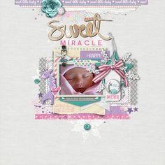 Sweet Miracle - Digital Scrapbooking Ideas - DesignerDigitals #DesignerDigitals #scrapbook #digitalscrapbook