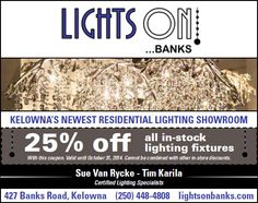 Lights On Banks - for all your lighting needs and a great deal from US!!!