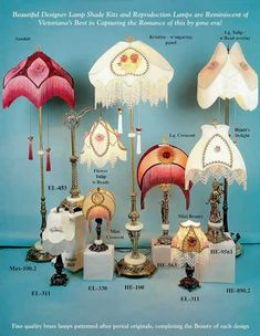 9 Original Victorian Lamp shade Kit Designs