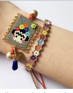 Bead Embroidery Jewelry, Beaded Jewelry Patterns, Beaded Embroidery, Beading Patterns, Loom Bracelet Patterns, Bead Loom Bracelets, Peyote Stitch, Brick Stitch, Kandi