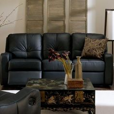 Palliser Furniture National Reclining Sofa Upholstery: Leather/PVC Match - Tulsa II Sand, Type: Manual