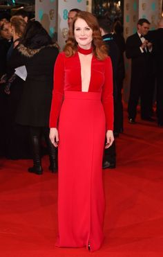 Julianne Moore in Tom Ford at the 2015 BAFTA Awards.
