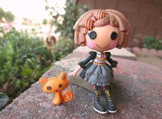 CUSTOM Mini Lalaloopsy *HERMIONE CASTS SPELLS* Doll w/ Cat pet! (crumbs)lot#c3HP #Dolls