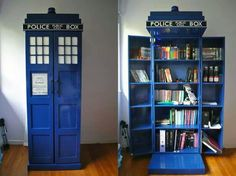 Tardis bookcase--could be a red phone booth style instead