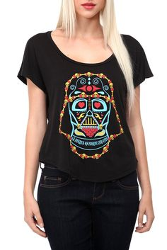 Day Of The Dead Darth Vader! The Force is Strong with this one! Get this Her Universe shirt at Hot Topic!