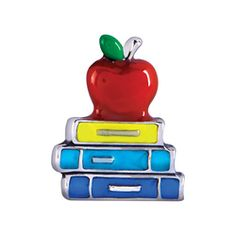 Apple and Books Charm | Every Locket Tells a Story. #whatsyourstory lifespassion #origamiowl http://staciemarshman.origamiowl.com/sites/staciemarshman/pwpshowproduct.aspx?programcategoryid=2&programproductid=4874 www.fb.com/OrigamiOwlByStacie