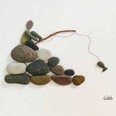 Gone Fishing Gone Fishing The post Gone Fishing appeared first on Gesundheit. Sea Glass Crafts, Sea Crafts, Sea Glass Art, Seashell Crafts, Stone Pictures Pebble Art, Stone Art, Stone Crafts, Rock Crafts, Pebble Art Family