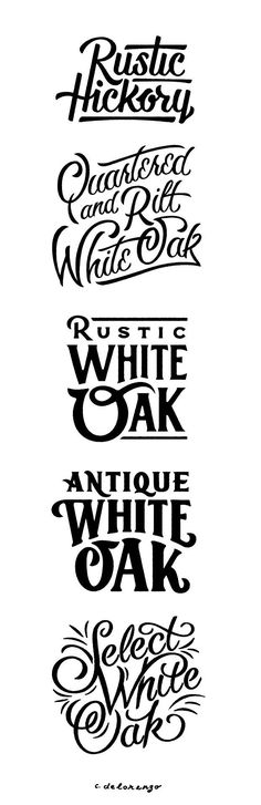 50 Inspiring Examples of Hand-lettering - Rustic Hickory , Antique White, Hand-lettering Design