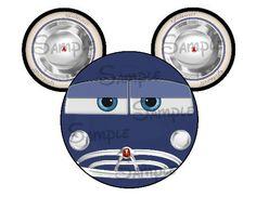 Doc Hudson Cars inspired DIGITAL printable DIY Mickey head file