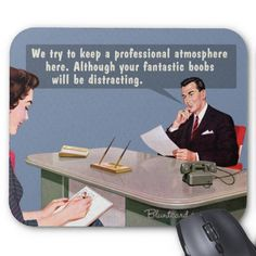 mousepad boobs office humor from bluntcard