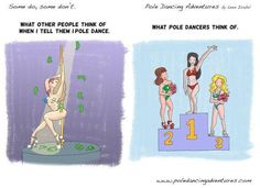 """When most people think of """"pole dancing,"""" they tend to think of the kind performed in strip clubs. While the sexy side is still very present, there are actually three main branches of pole dancing: sport, art, and sexy."""