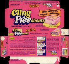Cling Free sheets - frabric softener dryer sheets - box - 1978 | Flickr - Photo Sharing!
