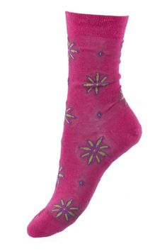 Seriously Silly Socks - Anne design flower motif socks in raspberry by Pantherella. Made in England from Merino wool, £13.00 (http://www.seriouslysillysocks.com/anne-design-flower-motif-socks-in-raspberry-by-pantherella-made-in-england-from-merino-wool/)