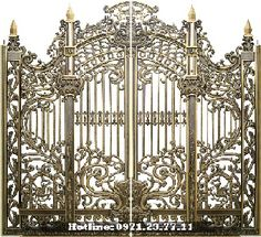 Cưa Cong Nhom Duc Gate Design, House Design, Interior Stair Railing, Main Gate, Grades, Front Gates, Iron Work, Exterior Doors, Windows And Doors