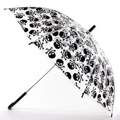 Skull Umbrella Clear, $10, now featured on Fab.