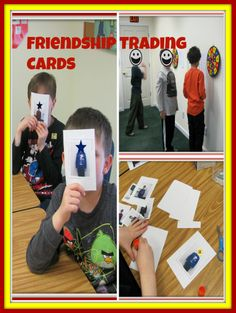 Help students remember important peer social information: make friendship trading cards!