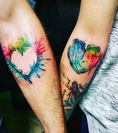 21 Gorgeous-Looking Watercolor Tattoo Ideas That Will Make You Want To Get Inked - Tatoo - Autism Tattoos, Sister Tattoos, Friend Tattoos, Daughter Tattoos, Autism Awareness Tattoo, Him And Her Tattoos, Tattoos For Guys, Tattoos For Women, Couple Tattoos Love