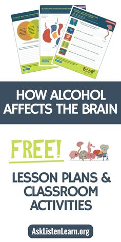 Free lesson plans, worksheets, activities, games and resources to teach kids about alcohol's affect on the developing brain. If you're a teacher, counselor or school admin, these free resources (including free printables) align to standards and are a fun