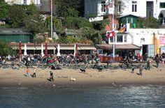 Hamburg Elbe Strandperle Cafe Övelgönne