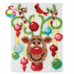 New Year decoration crochet hooks clover tool kit in a suitcase cross-stitch kits crochet hooks Latch hook rug kits