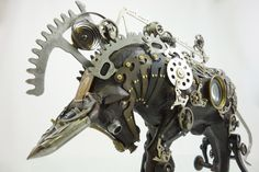 """""""Running of the Bulls"""" found object assemblage by Assemblique™"""