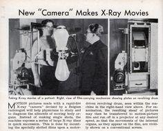 "New ""Camera"" Makes X-Ray Movies - Popular Science (Jul, Radiologic Technology, Rad Tech, Medical Imaging, Vintage Medical, Movie Camera, Medical Field, Medical History, Classic Movies, Science"