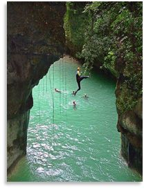 Canyoning in Dominican Republic