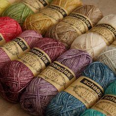 Le coton #stonewashed débarque sur le site trÍScote ! J'adore les nuances effet délavé ! #Scheepjes #triscote