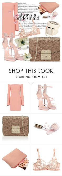 """""""Always a bridesmaid"""" by sugarontop ❤ liked on Polyvore featuring Cinq à Sept, Giuseppe Zanotti, Furla, Ciaté and Agent Provocateur"""