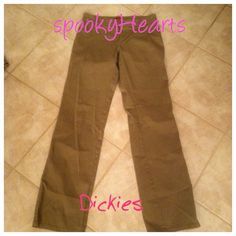 -30%bundles Dickies pants New tan size7 New dickies pants straight leg tan size 7 ! Woman's great condition New never worn or washed! Dickies Pants Straight Leg