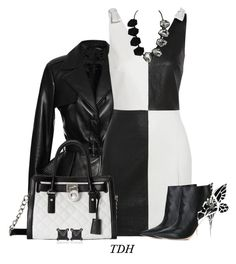 """""""Black & White"""" by talvadh ❤ liked on Polyvore featuring Elie Saab, Yves Saint Laurent, MICHAEL Michael Kors, Sophia Webster and Eva Fehren"""