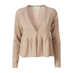 rosemunde cardigan cashmere ❤ liked on Polyvore featuring tops, cardigans, sweaters, jackets, blazers, cashmere tops, cardigan top, rosemunde, beige top and beige cardigan