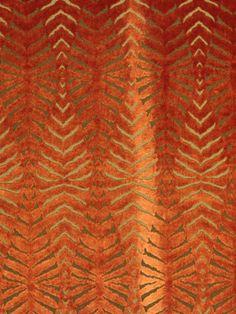 Orange Cut Velvet Fabric - Modern Animal Upholstery - FABRIC Animal Velvet Upholstery Fabric Orange Velvet by PopDecorFabrics Living Room Upholstery, Velvet Upholstery Fabric, Upholstery Trim, Upholstery Nails, Upholstery Cleaner, Drapery Fabric, Fabric Decor, Upholstery Cushions, Fabric Sofa