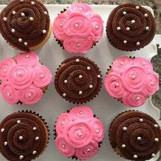 Pink and brown cupcakes :)