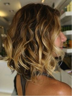 Adorable shoulder length style --raised in the back...like this