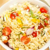 Orzo with Roasted Cherry Tomatoes and Feta