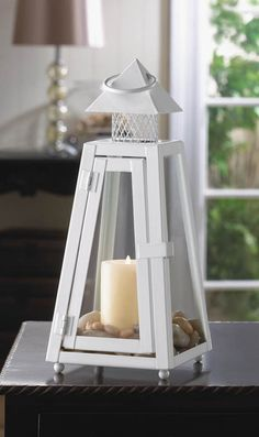 SUMMIT WHITE CANDLE LANTERN $19.95 check out store for discounts!